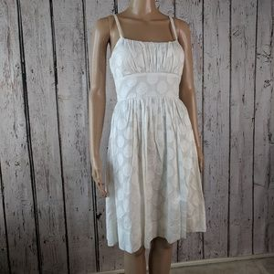 White with white polka dots sun dress